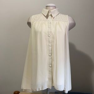 Vintage style layered blouse
